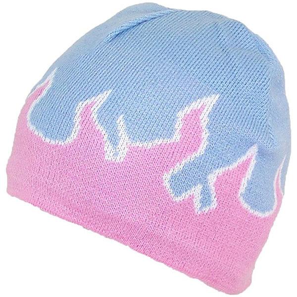 Elegant Lavender Blue Pink Beanie for Girls