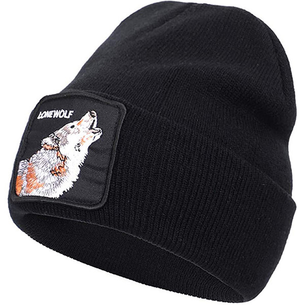 Howling Wolf Cuff Beanie for Cold Temperatures