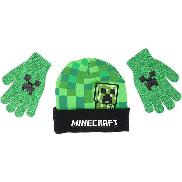 Minecraft Beanie With Gloves for 4-16 Years