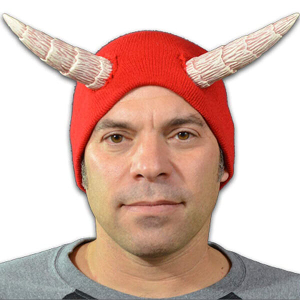 Serious devil looking beanie for Halloween