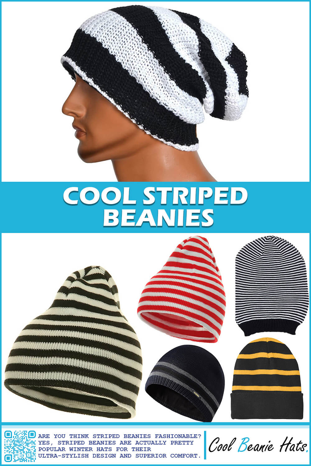 beanies with striped