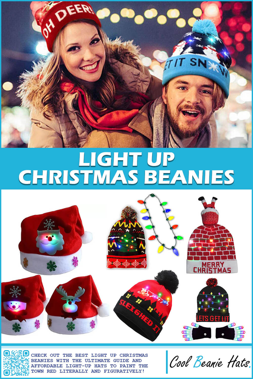 light up christmas beanies