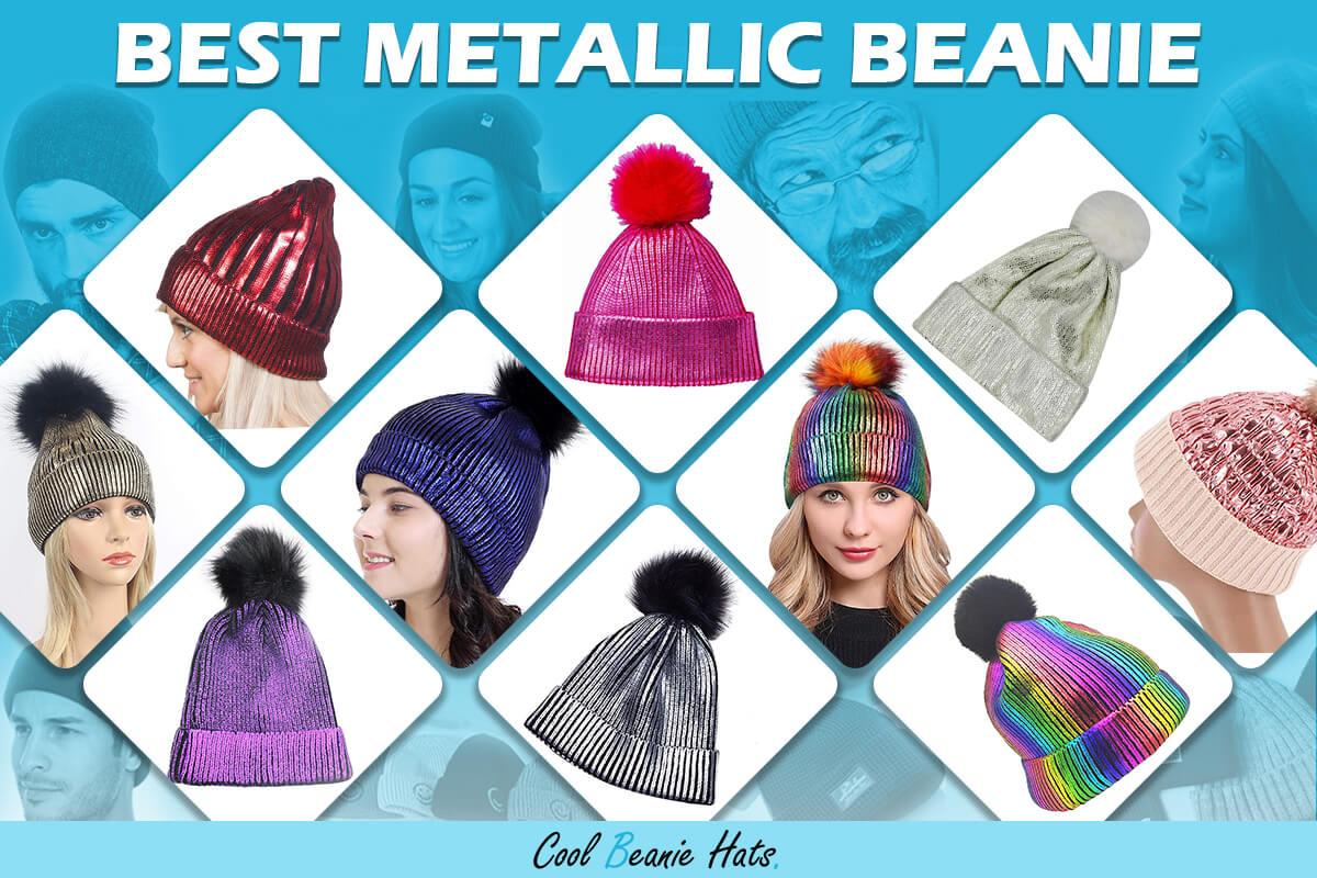 metallic beanies