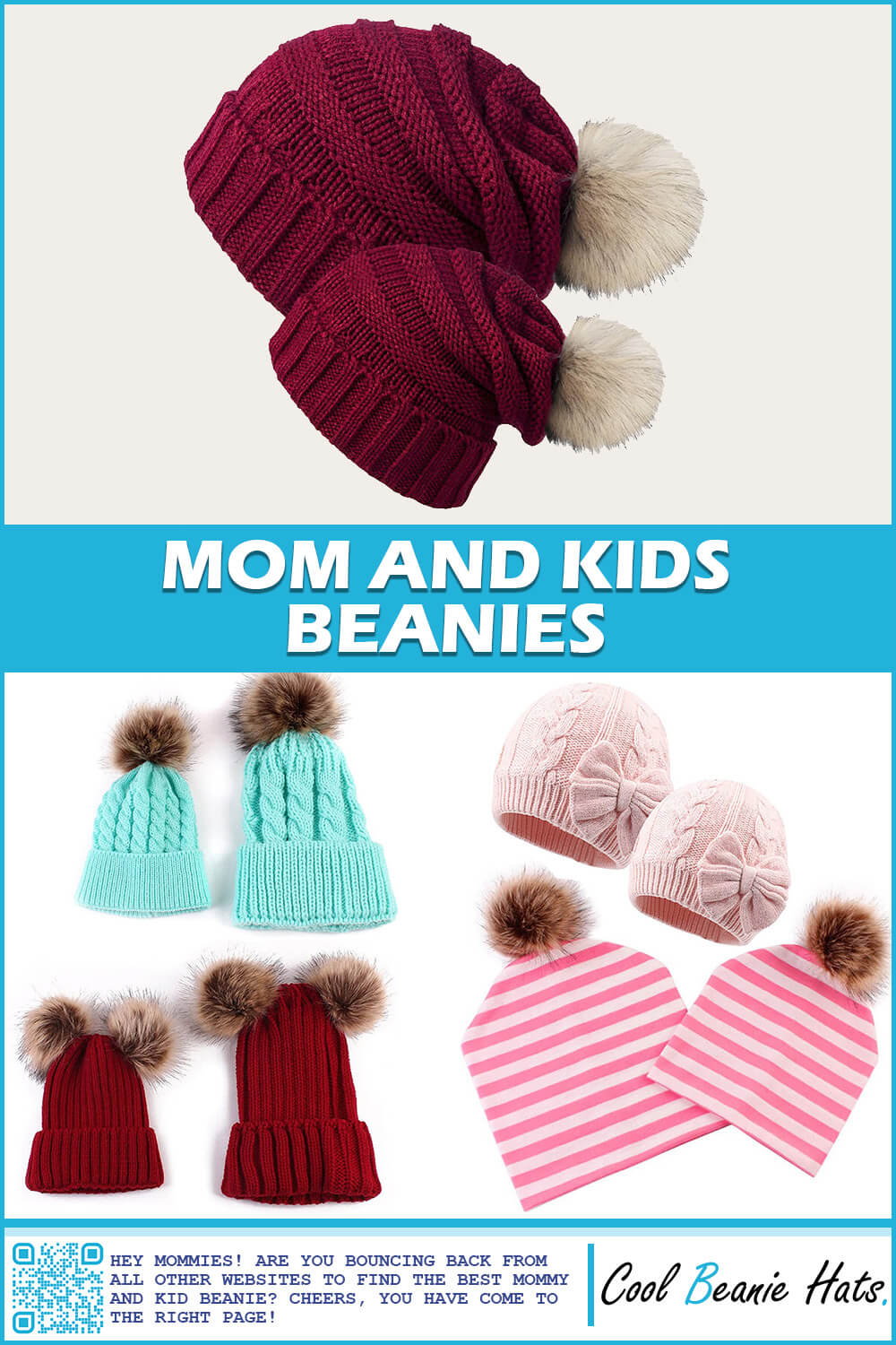 mom and kid beanies
