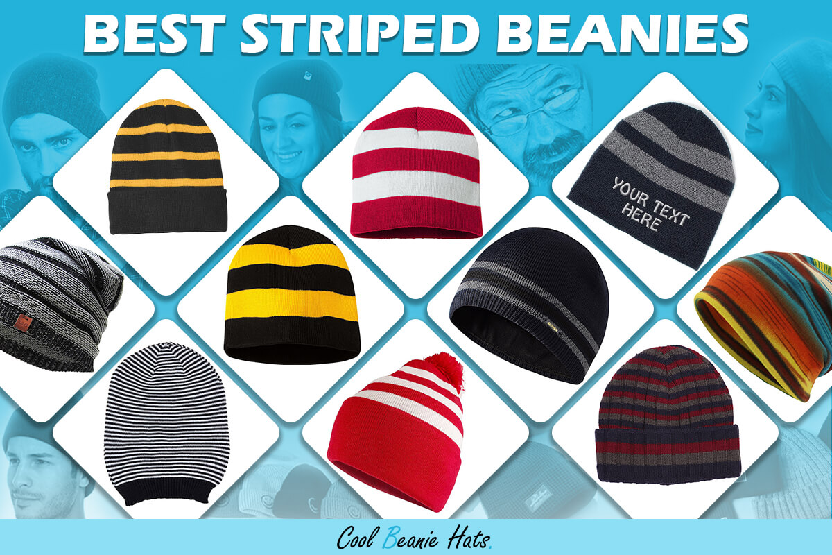 striped beanies