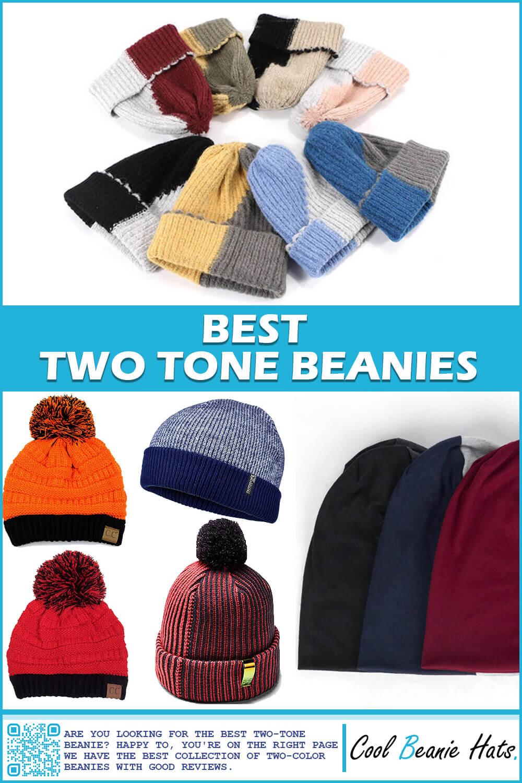 two tone beanie