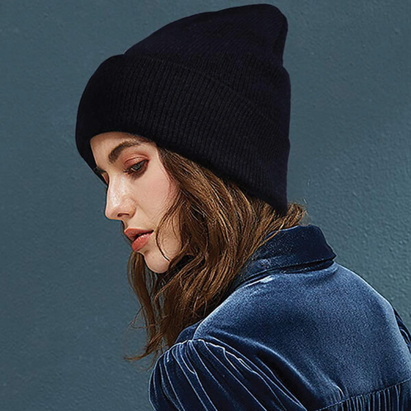 Cuffed Beanie Hat For Girls