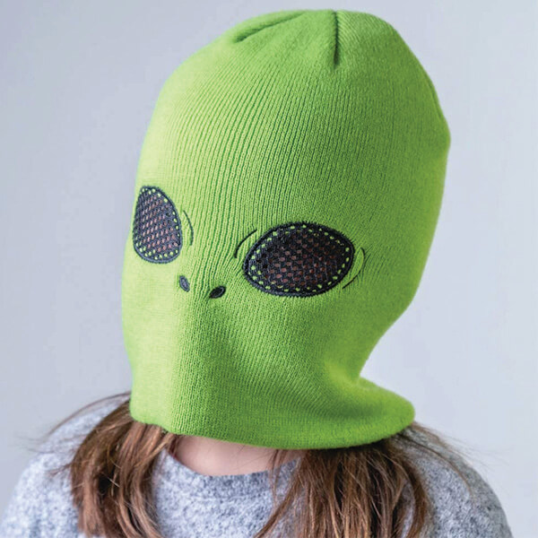 Halloween Alien Beanie with Eye Holes for Kids and Teens