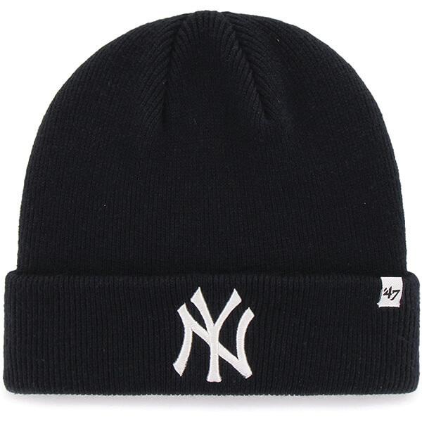 MLB Men's Raised Cuff Knit Yankees Beanie