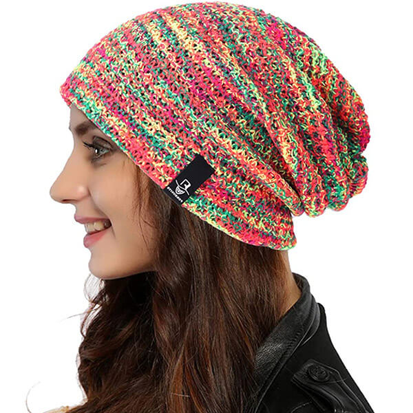 Multihued Slouchy Beanie for Regular Usage