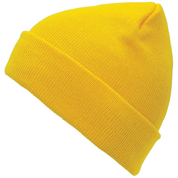 Simple Solid Coloured Yellow Beanie