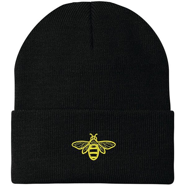 Stretchable Embroidered Bee Beanie for Everyone