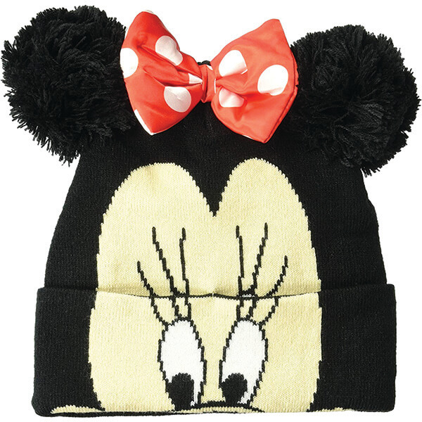 Warm Disney Minnie Mouse Face Beanie