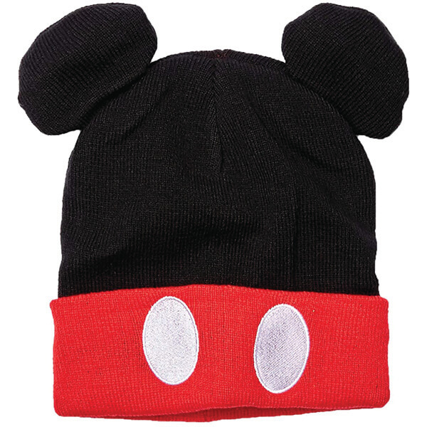 Mickey Mouse Ears and Pants Buttons Style Beanie