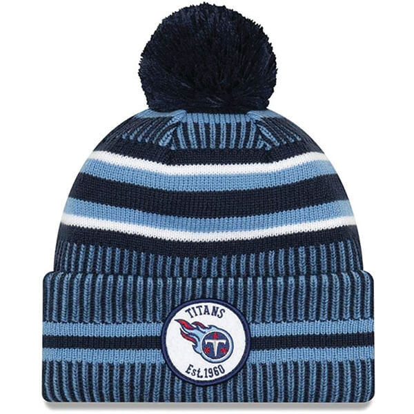 New Era Tennessee Titans Embroidered Patch Beanie