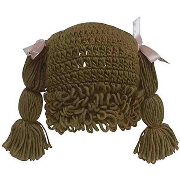 Pretty Woven Yarn Wig Beanie