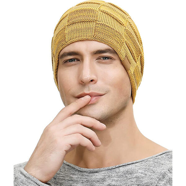Unique Hipster Style Men's Yellow Beanie