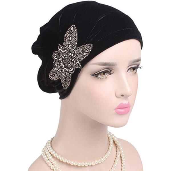 Women's Stretch Velvet Chemo Beanie Hat