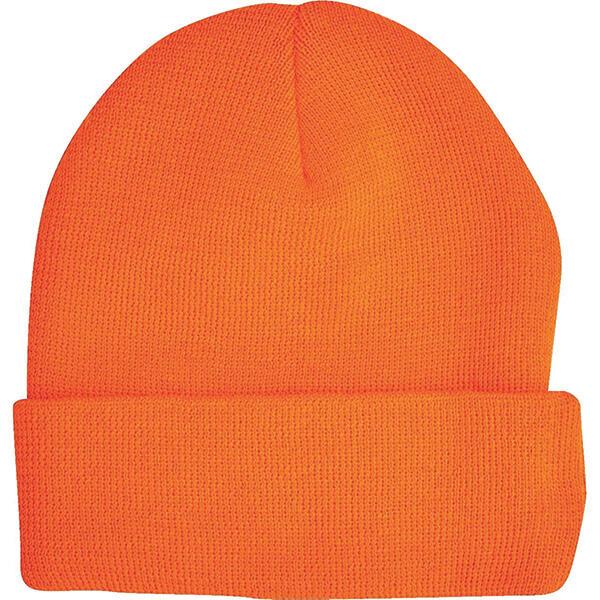 Blaze Orange Knit Watch Cap