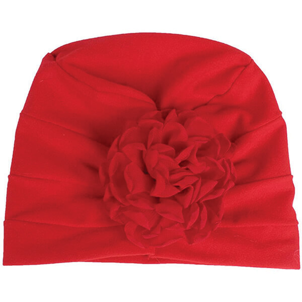 Cotton Slouch Flower Beanie For Kids