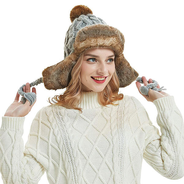 OMECHY Peruvian Beanie with Earflaps