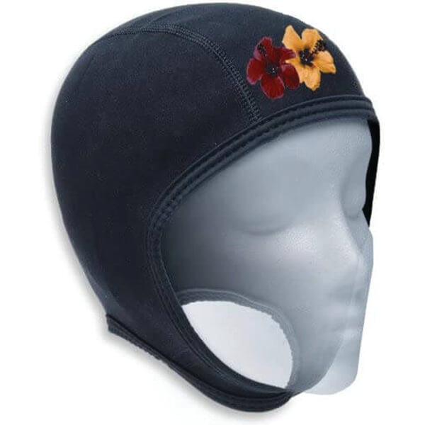 Unique Floral Designed Neoprene Beanie for All Watersports