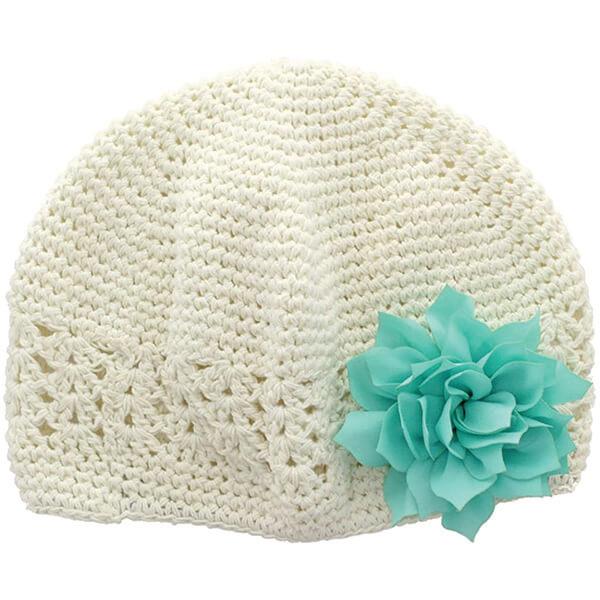 Baby Girl's Crochet Flower Beanie