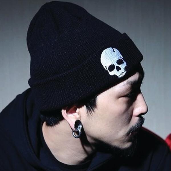 Hip Hop Cuffed Skull Beanie For Women