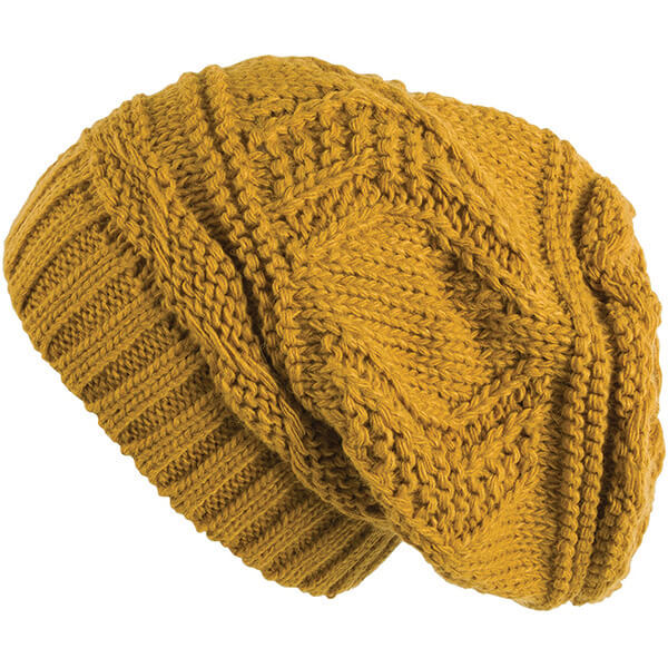 Mustard Yellow Slouchy Beanie for all Head Sizes