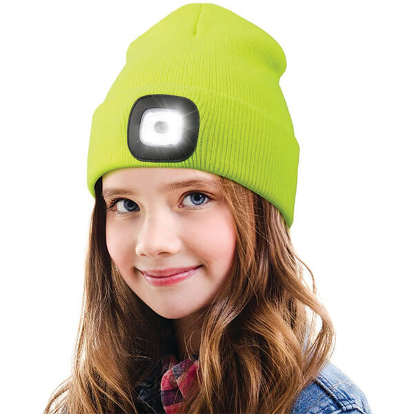 Safety Reflective Neon LED Beanie for Better Visibility