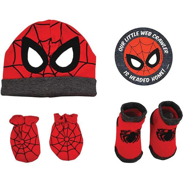 Spiderman Beanie Gift Set for Newborns