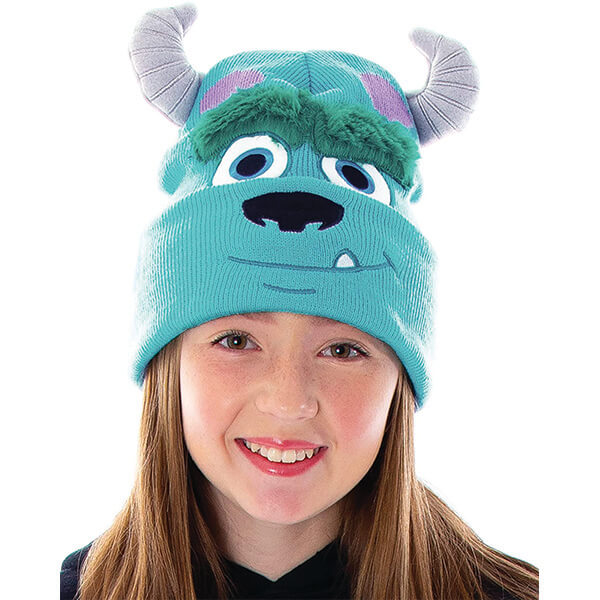 Sully Disney Beanie With Bushy Eyebrows and Horns