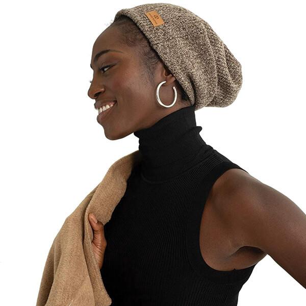 100% Wool Satin Lined Sleep Beanie for Winter
