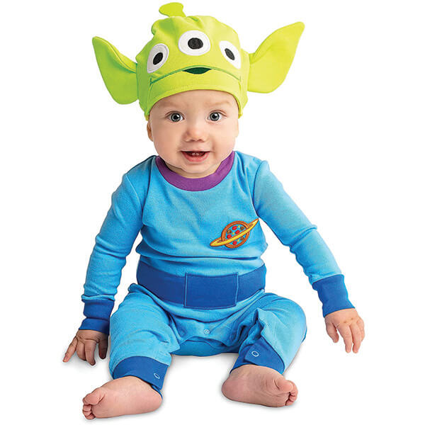 Cotton Toy Story Alien Costume with Beanie for 0-2 Years