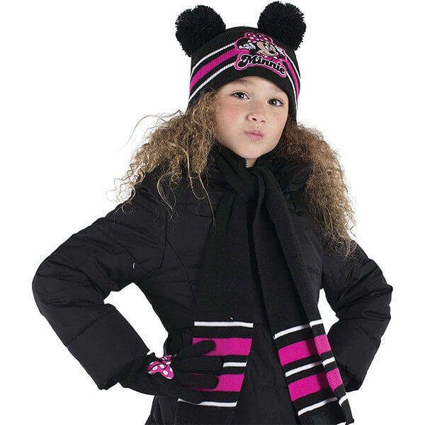 Minnie Beanie with Gloves and Scarf for Two to Four Years