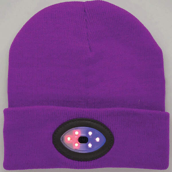 Rechargeable Safety Reflective LED Beanie at Half Price