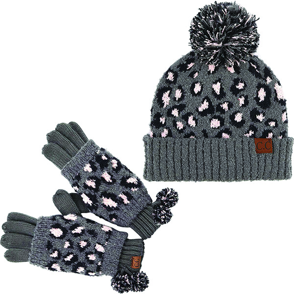 Worth Investing Leopard Beanie With Mittens for Everyone