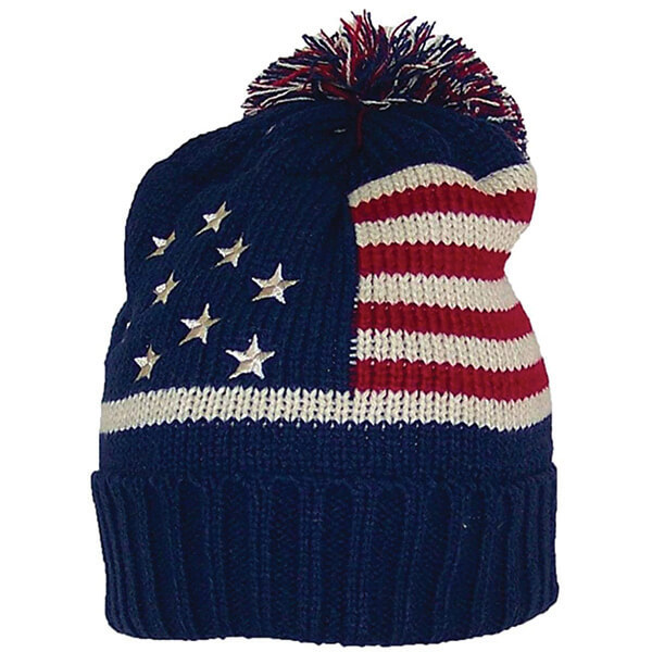 American Flag Winter Beanie For Adult