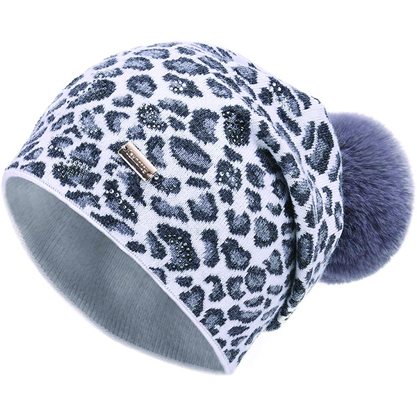 Removable Pom-pom Leopard Beanie With All Advantages