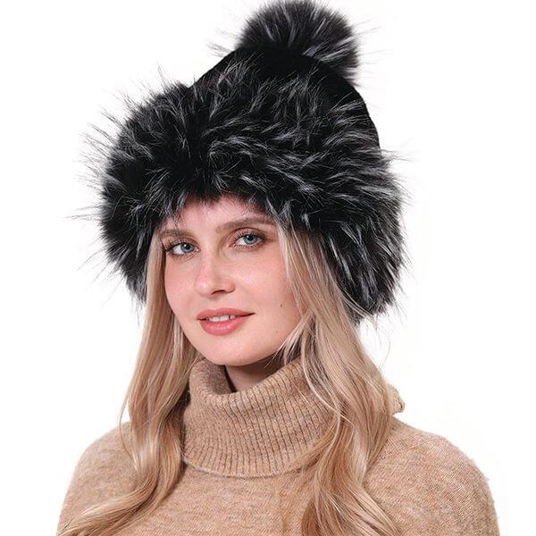 Splendid Faux Fur Pom-pom Beanie