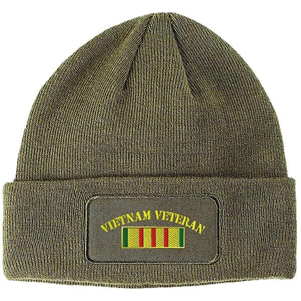 Vietnam Veterans Patch Durable Beanie