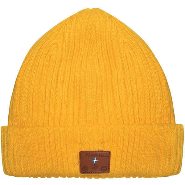 Yellow Bluetooth Beanie for Music Lovers