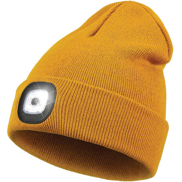 Headlamp Beanie With 4 LED Rechargeable Lights