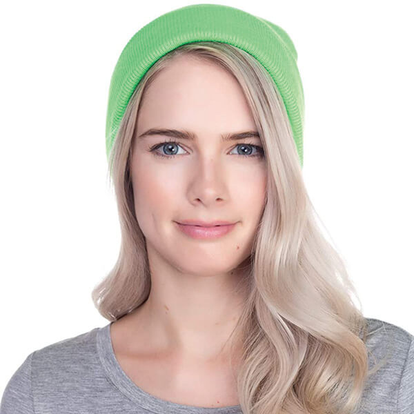 Neon Green Safety Reflective Beanie for Unisex