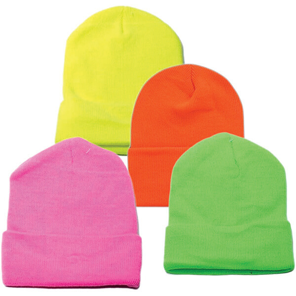 Neon Plain Beanies At Low Prices