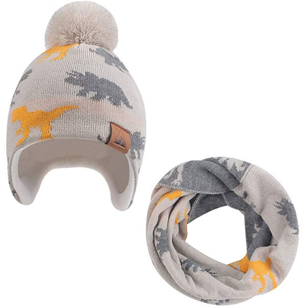 Dinosaur Beanie With Scarf at Affordable Price Under 5 Years