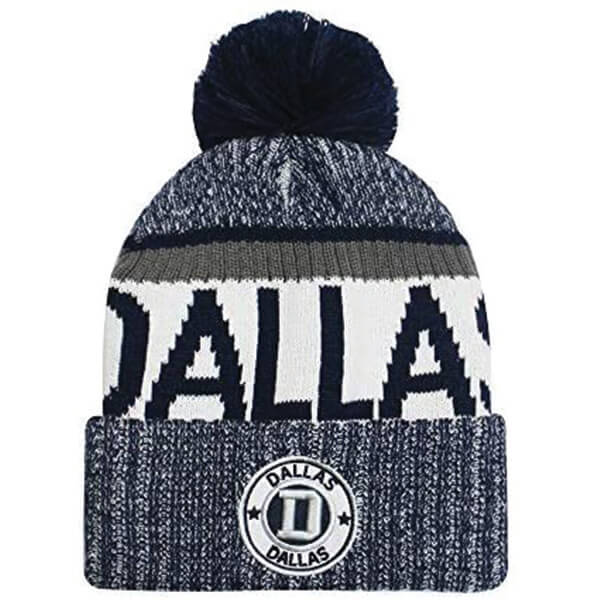 Warm Pom-pom Beanie for Dallas cowboys fan