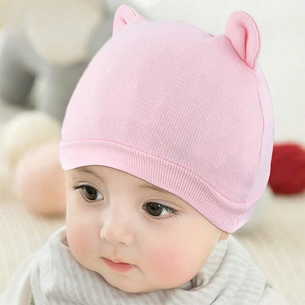 100% Skin Friendly Cotton Beanie for Newborns