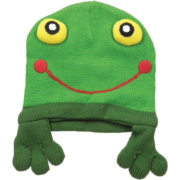 Bulging Eye Frog Beanie With Dangling Legs for Children