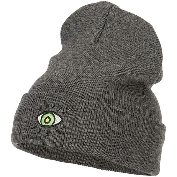 High Top Eye Embroidery Beanie